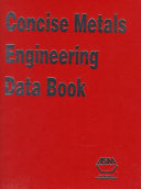 Concise Metals Engineering Data Book