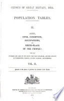 Census of Great Britain  1851  Population Tables  II
