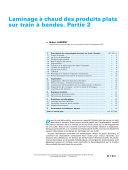 Laminage A Chaud Des Produits Plats Sur Train a Bandes Patie 2