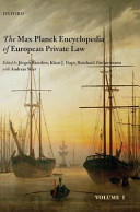 The Max Planck Encyclopedia of European Private Law