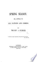 Spring Season  or  Appeal to all Nations and Creeds