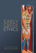 Early Greek Ethics
