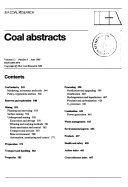Coal Abstracts Book PDF