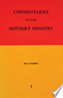Commentaries on the Mother s Ministry Volume 3