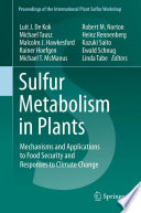 Sulfur Metabolism in Plants
