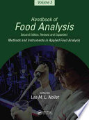 Handbook of Food Analysis  Methods and instruments in applied food analysis Book