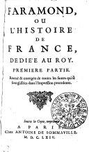 Faramond, ou, L'Histoire de France, Dediée au Roy