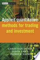 Applied Quantitative Methods For Trading And Investment Book PDF