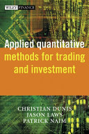 Applied Quantitative Methods for Trading and Investment