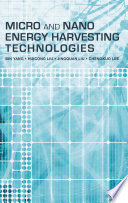 Micro And Nano Energy Harvesting Technologies Book PDF