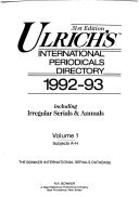Ulrich S International Periodicals Directory 1992 93
