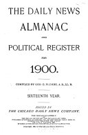 The Chicago Daily News Almanac and Political Register for     Book