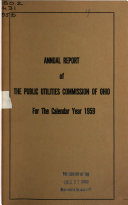 Annual Report Of The Public Utilities Commission Of Ohio To The Governor Of The State Of Ohio For The Year