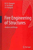 Fire Engineering of Structures Book