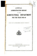Pdf Administration Report of the Department of Agriculture and Food Production