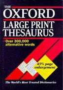 The Oxford Large Print Thesaurus