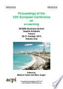 ECEL2013  Proceedings for the 12th European Conference on eLearning