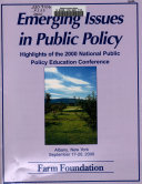 Emerging Issues in Public Policy