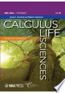 Calculus for the Life Sciences  A Modeling Approach