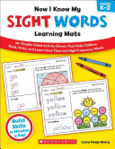 Now I Know My Sight Words Learning Mats  Grades K 2