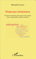 Pdf Éthique pour entrepreneurs Telecharger