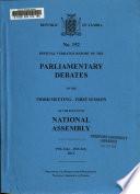 Official Verbatim Report of the Parliamentary Debates