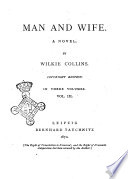 Man and Wife a Novel by Wilkie Collins