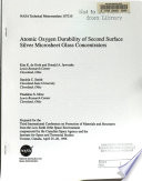 Atomic Oxygen Durability of Second Surface Silver Microsheet Glass Concentrators