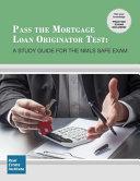 Pass the Mortgage Loan Originator Test