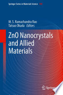 Zno Nanocrystals And Allied Materials Book PDF