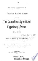 Report of the State Entomologist of Connecticut for the Year