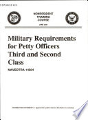 Military requirements for petty officers third and second class Book