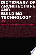 Dictionary of Architectural and Building Technology Book