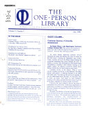 The One person Library Book