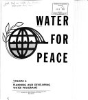 Water for Peace  Planning and developing water programs