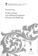 The Role of Poland in the Intellectual Development of Europe in the Middle Ages