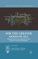 For the Greater Good of All: Perspectives on Individualism, ...
