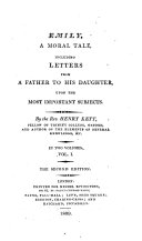 Emily  a moral tale  including letters from a father to his daughter