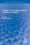 Pdf A Guide to Twentieth Century Literature in English Telecharger