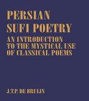 Persian Sufi Poetry Pdf/ePub eBook