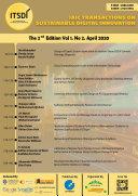 IAIC Transactions on Sustainable Digital Innovation  ITSDI  The 2nd Edition Vol  1 No  2 April 2020
