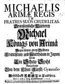 Michaelis Arimae Regis in fratres suos crudelitas