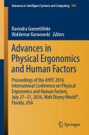 Advances in Physical Ergonomics and Human Factors [Pdf/ePub] eBook