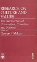 Research on Culture and Values