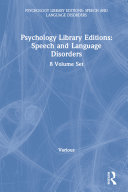 Psychology Library Editions: Speech and Language Disorders