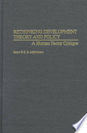 Rethinking Development Theory and Policy Book