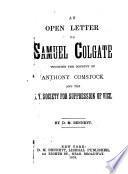 An Open Letter To Samuel Colgate