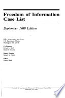 Freedom of Information Case List