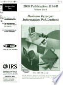 A Selection of     Internal Revenue Service Tax Information Publications Book