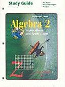Algebra 2  Grades 9 12 Study Guide